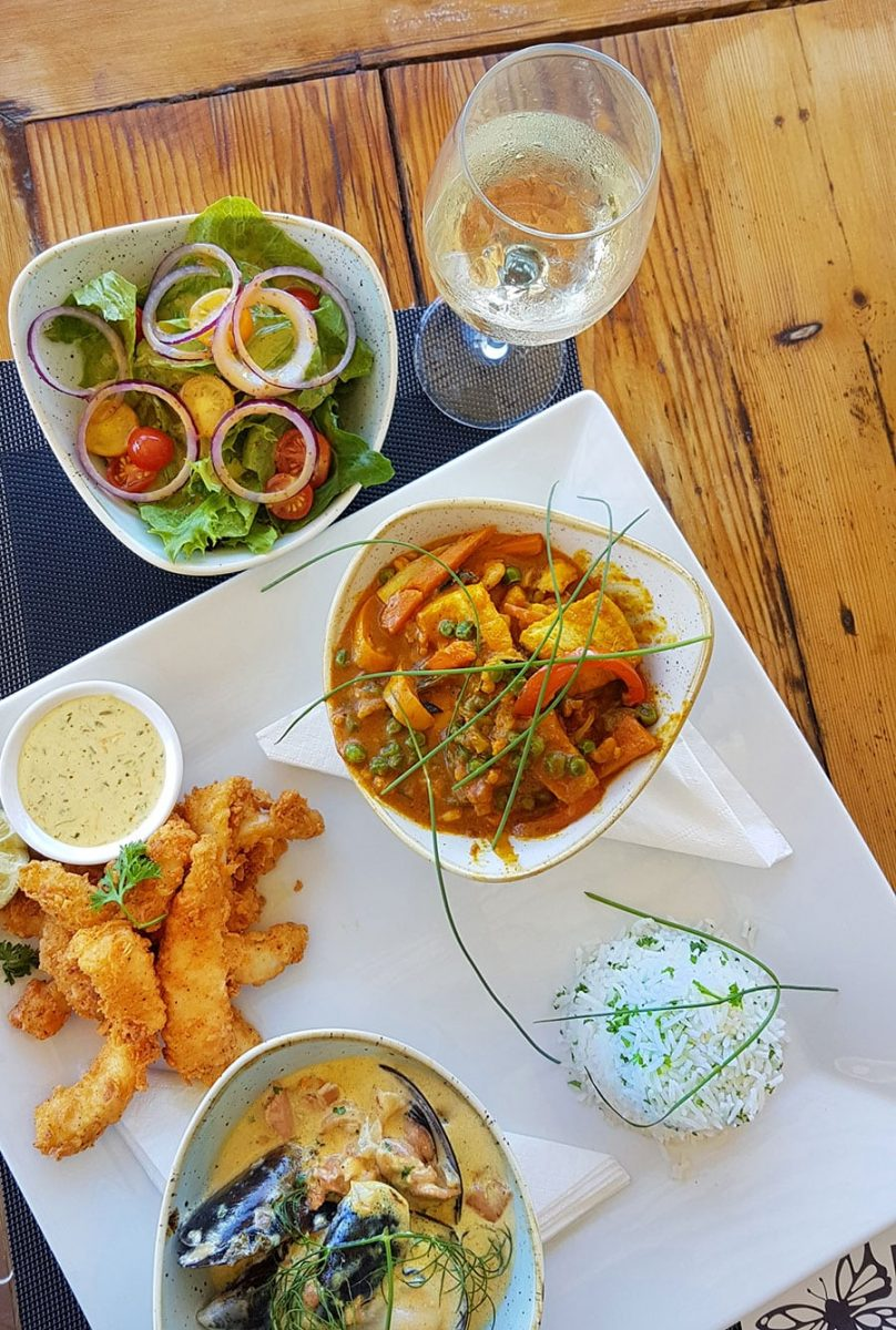 butterfly blu restaurant beachfront offers a great menu and wide selection of food at brento haven brenton on sea knysna seafood