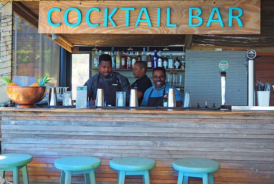 butterfly blu restaurant beachfront offers a great menu and wide selection of drinks at brento haven brenton on sea knysna cocktail bar on the beach